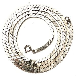 Vintage silver chain necklace